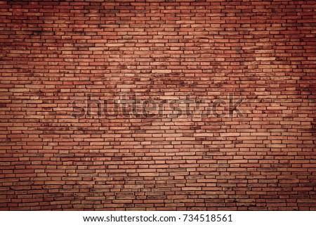 red brick wall texture grunge background #734518561