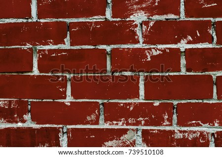 Stock Photo Red brick wall texture, wall background