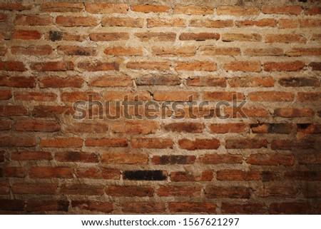 Red brick wallpaper background. Old brick wallpaper. Retro wallpaper.