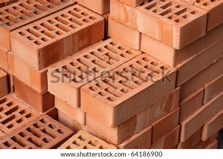 Red bricks.