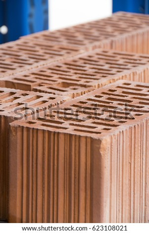 Red bricks material for building construction #623108021