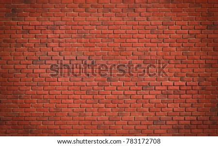 Red brown block brick wall Beautifully arranged texture background. #783172708
