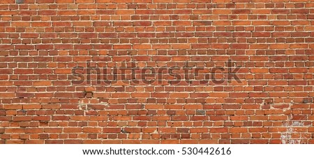 red brown vintage brick wall...