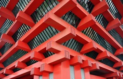 red Building corner