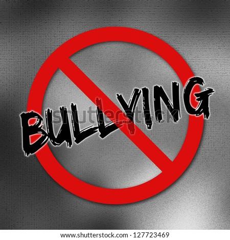Red bullying forbidden sign
