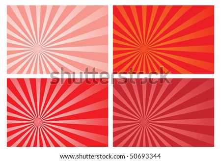 red burst rays background, eps10 format, preserve transparency and opacity mask for easy color changing, position of the burst and fading effects. A clipping mask is used.