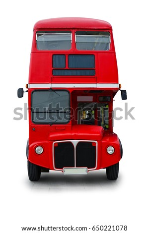 red bus vintage design isolated ...