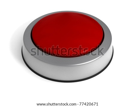 Red Button isolated at white background.