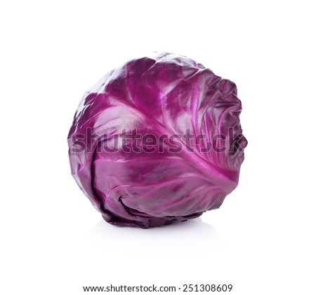 red cabbage isolated on white
