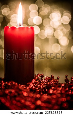 red candle on a gold background #235838818
