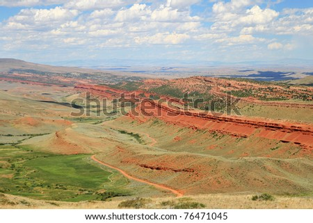 Red Canyon overlook in Fremont County Wyoming