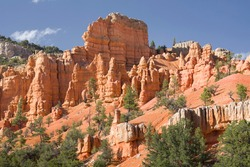 Red Canyon, Utah, USA. Hoodoo landscape caused by erosion of sedimentary rocks