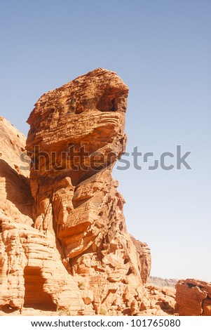Red canyon walls in Valley of Fire Nevada
