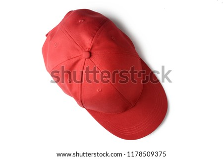 Red cap isolated on white background, top view. #1178509375