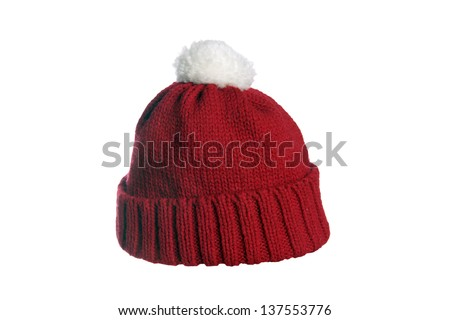 red cap isolated over a white background / red cap