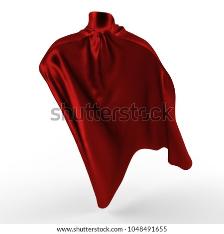 Red cape. 3d illustration.