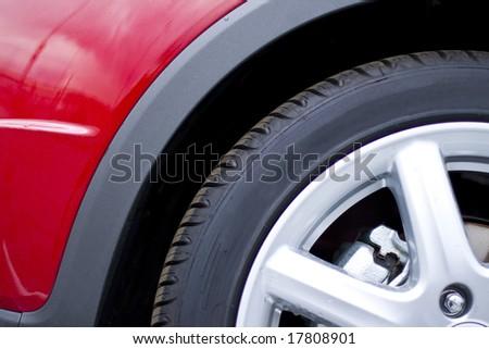 red car wheel