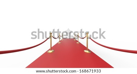 red carpet and  stanchions