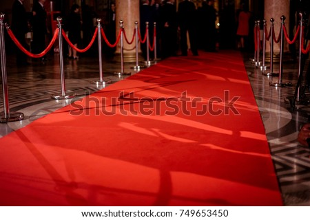 Red carpet at an exclusive event
