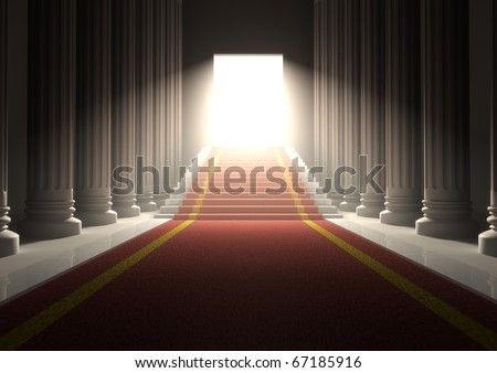 Red Carpet Entrance - stock photo
