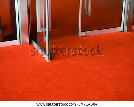 Red Carpet entrance for a celebrity welcome