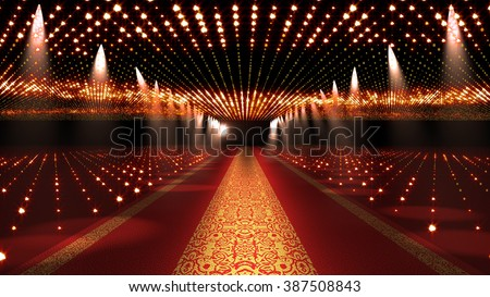 Red Carpet Festival Glamour Scene Illustration