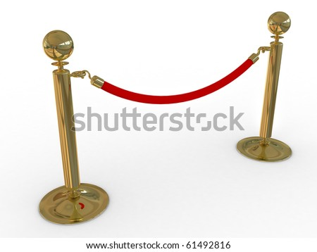 Red carpet path on a brown ladder for VIP persons