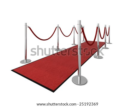 Red carpet vip illustration isolated on white.