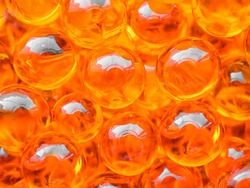 Red caviar close-up background. Protein healthy food