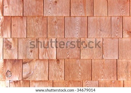 Red cedar shingle siding