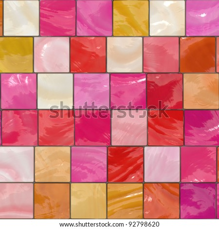 red ceramic background