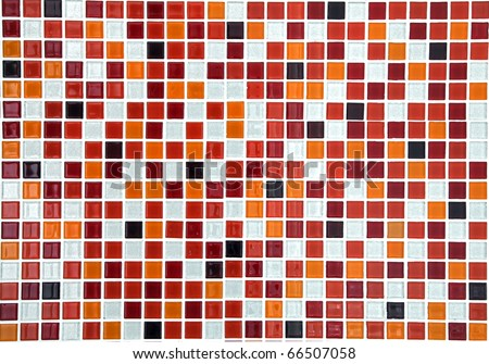 red ceramic mosaic using in pool background