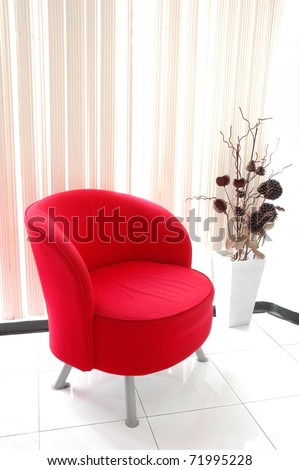 red chair in room