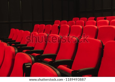 Red Chair in Theater. #1189493887