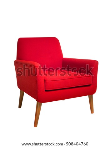 Red chair isolated on white background #508404760