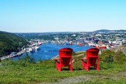 Red Chair View of St Johns Newfoundland