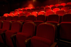 red chairs in the cinema