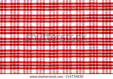 Red checked tablecloth