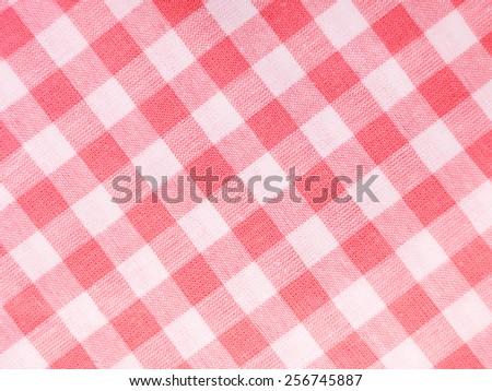 Red checked textile full frame