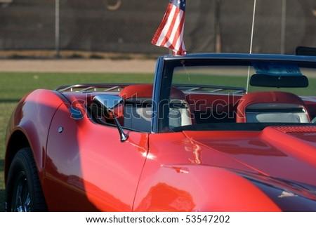 Corvette Stingray Logo. Corvette Stingray 1969 Red.