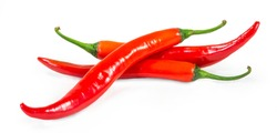 red chilli isolated white background