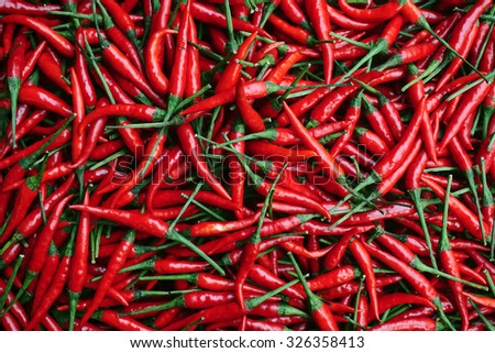 Red Chillies Background,Selective focus