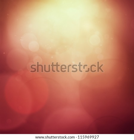Red Christmas abstract background with bokeh lights