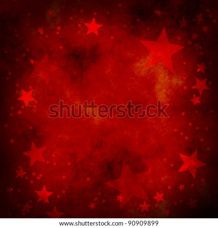 red christmas background with stars