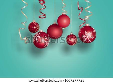Red christmas ball #1009299928