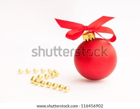 Red Christmas ball