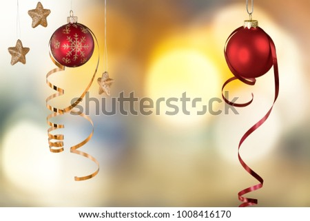 Red christmas balls garlands #1008416170