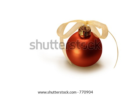 Red Christmas bulb. - stock photo