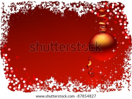 Red Christmas Card #87854827
