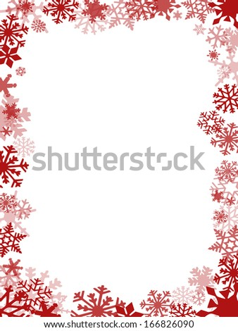 Red Christmas card frame and background #166826090